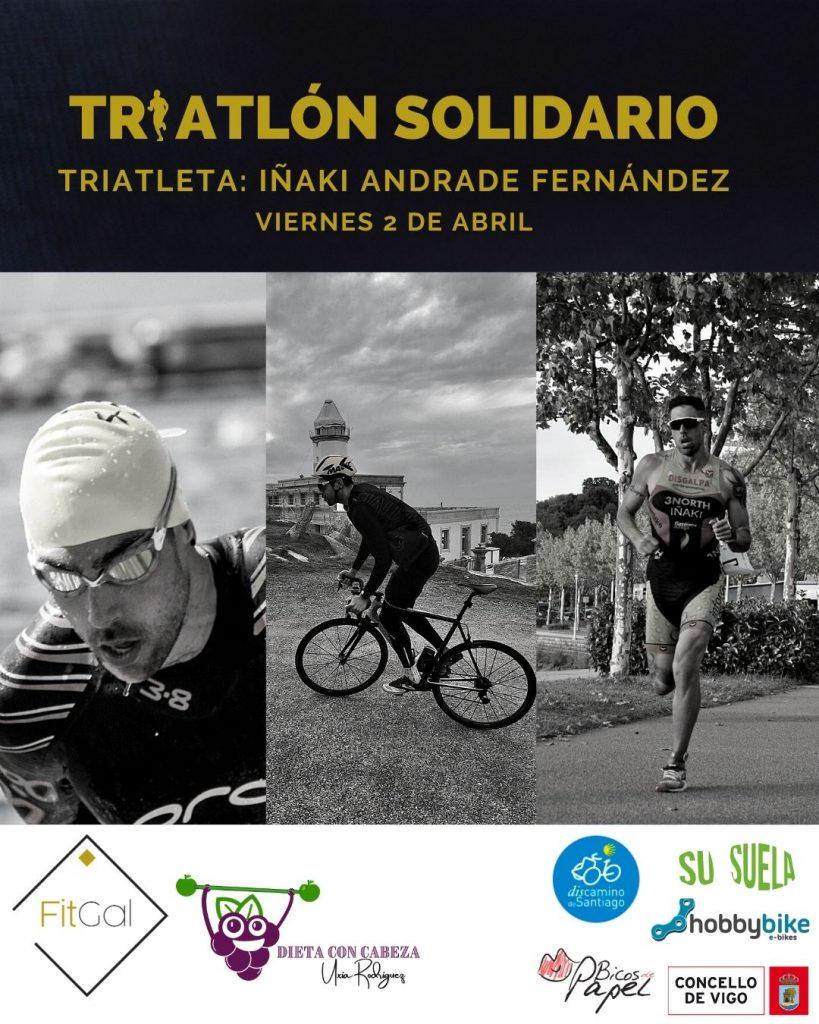 El 2 de abril nuestro Triatleta Iñaki Andrade se enfrentará en solitario a un medio Ironman. Todo lo recaudado irá para Bicos de papel.